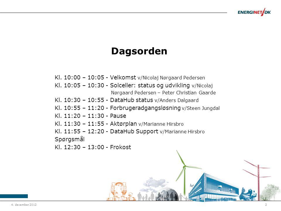Dagsorden Kl. 10:00 – 10:05 - Velkomst v/Nicolaj Nørgaard Pedersen