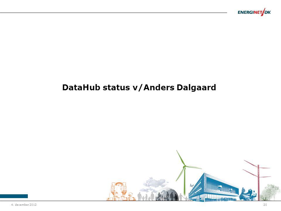 DataHub status v/Anders Dalgaard
