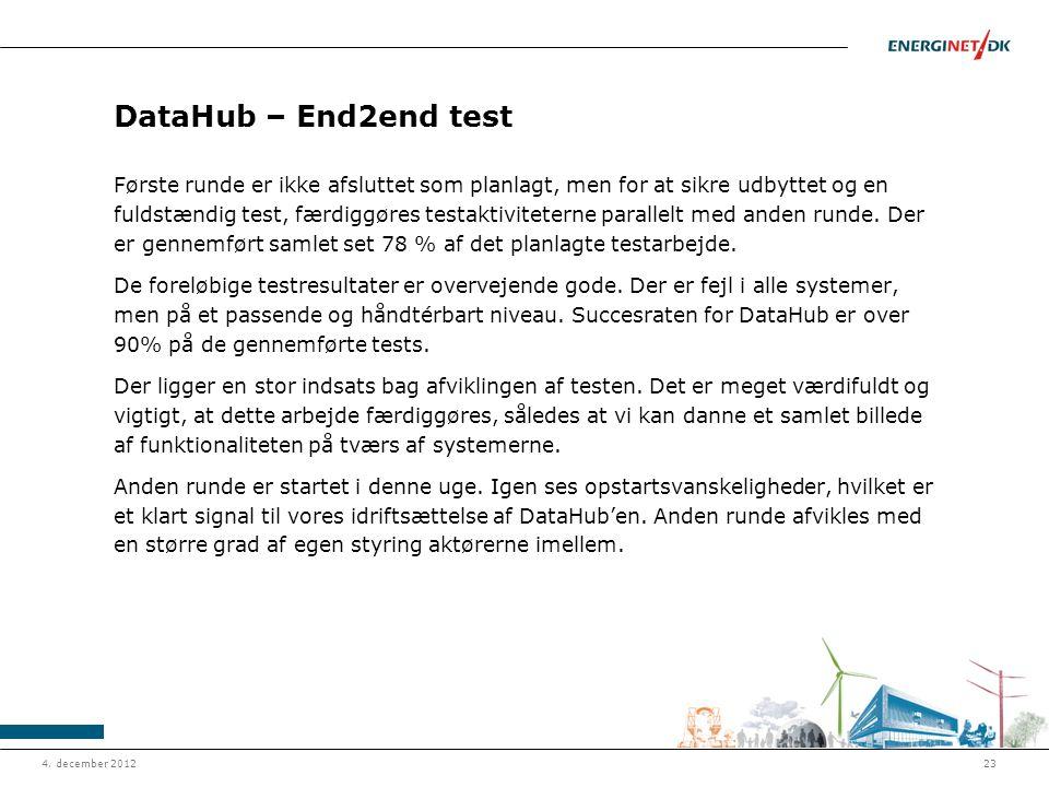 DataHub – End2end test