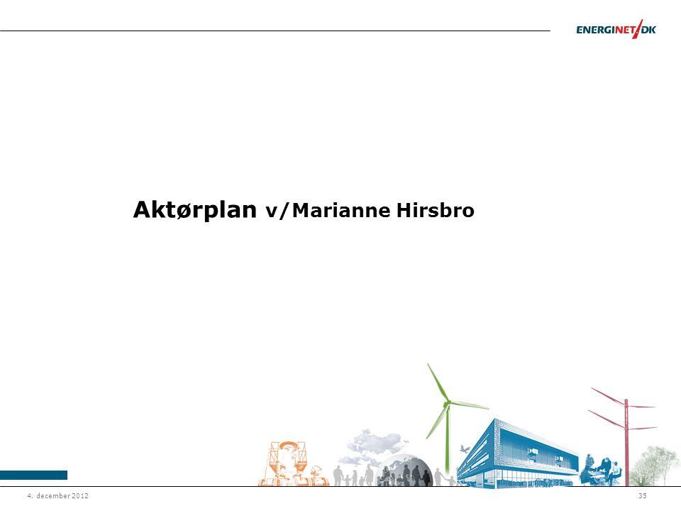 Aktørplan v/Marianne Hirsbro