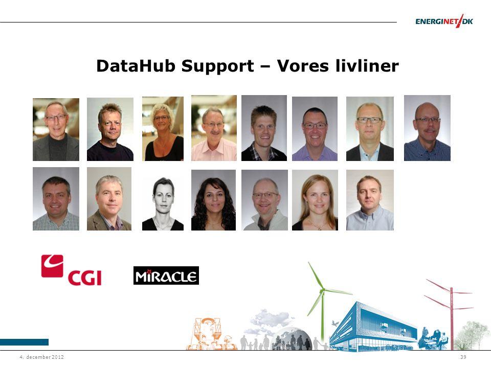 DataHub Support – Vores livliner