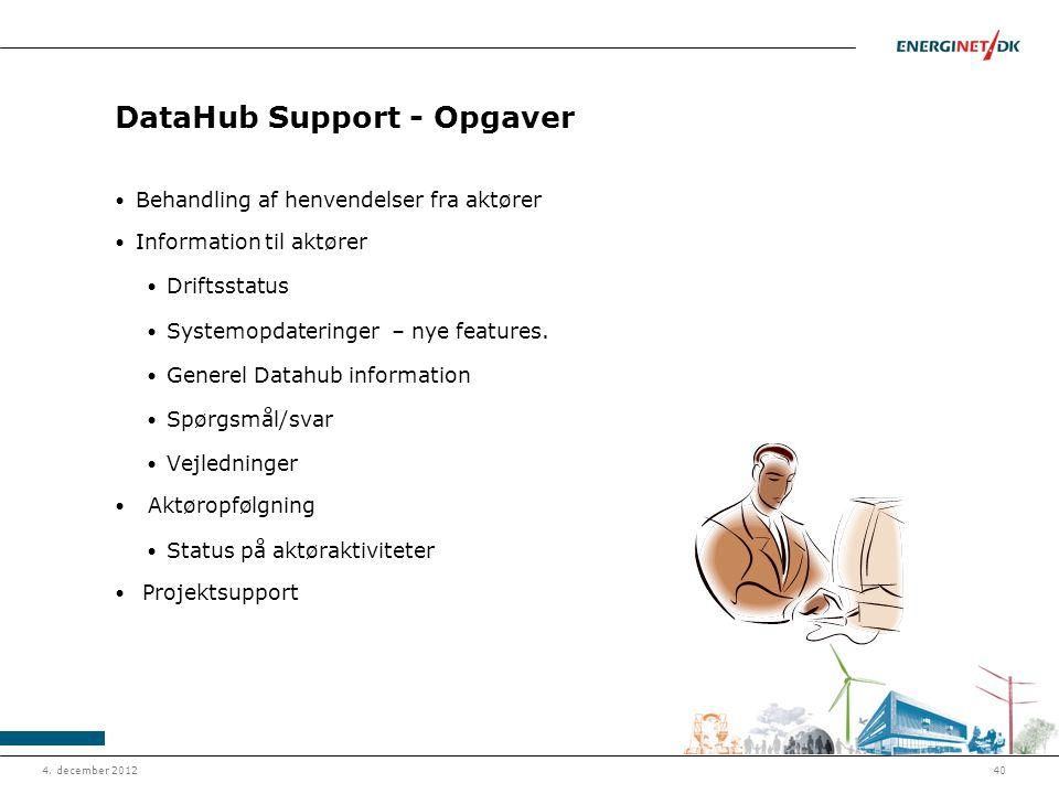 DataHub Support - Opgaver