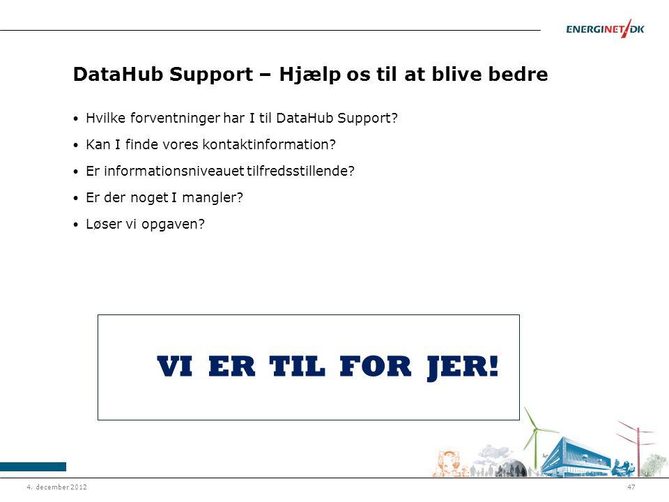 DataHub Support – Hjælp os til at blive bedre