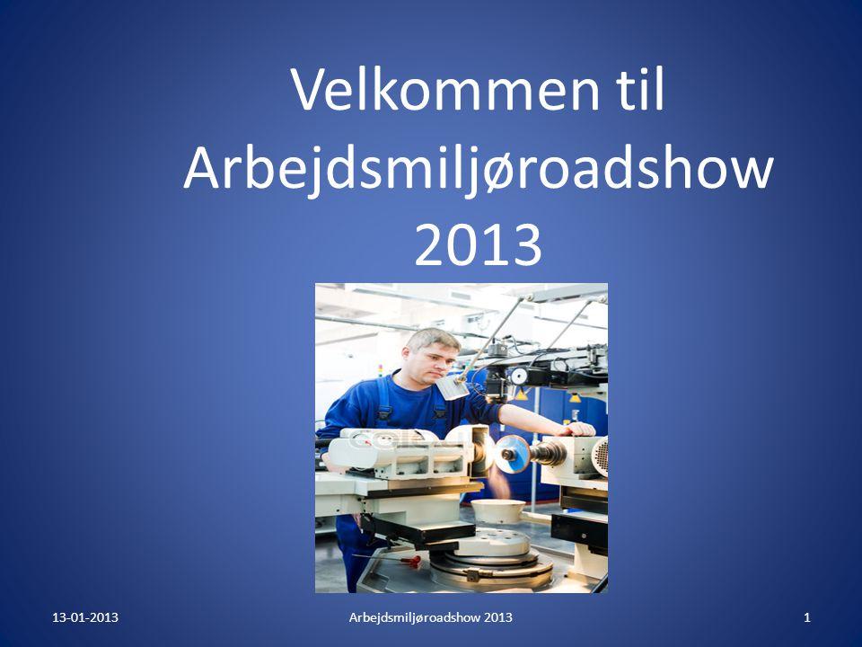 Velkommen til Arbejdsmiljøroadshow 2013
