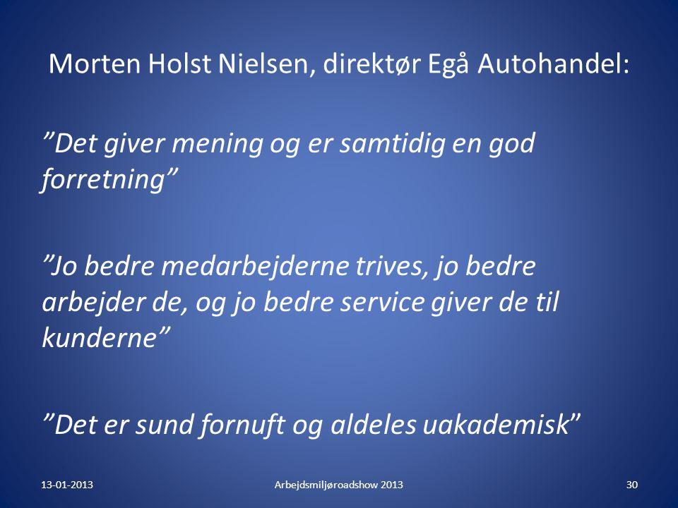 Morten Holst Nielsen, direktør Egå Autohandel: