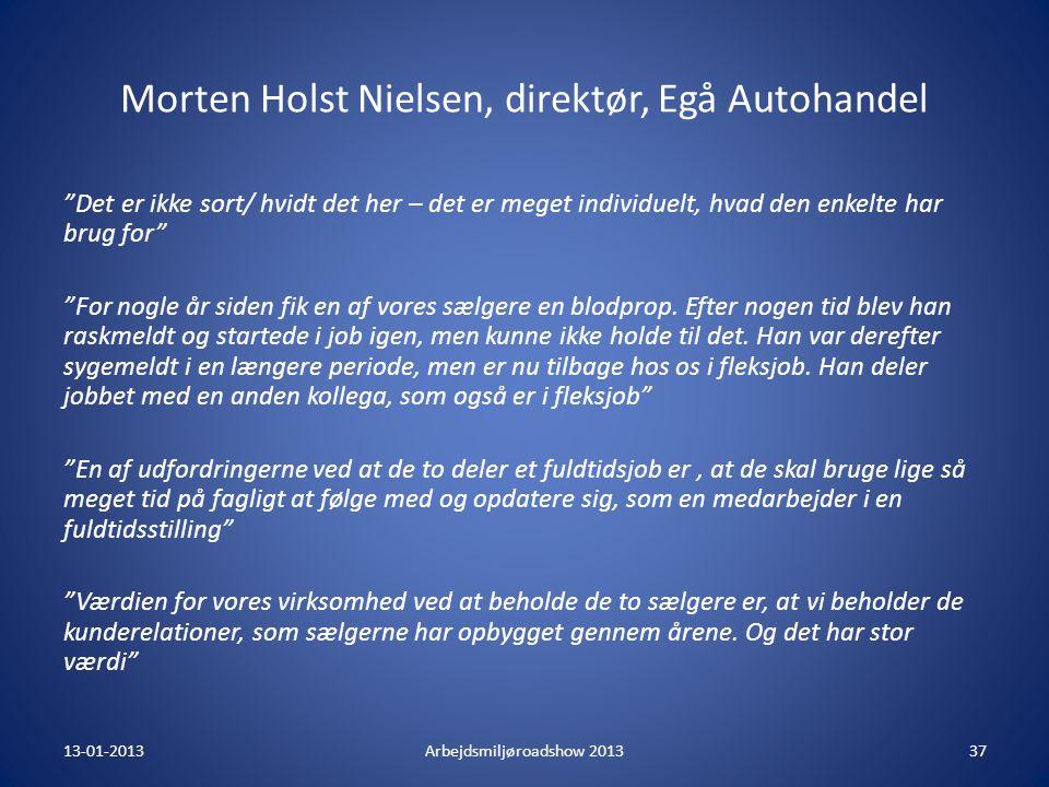 Morten Holst Nielsen, direktør, Egå Autohandel