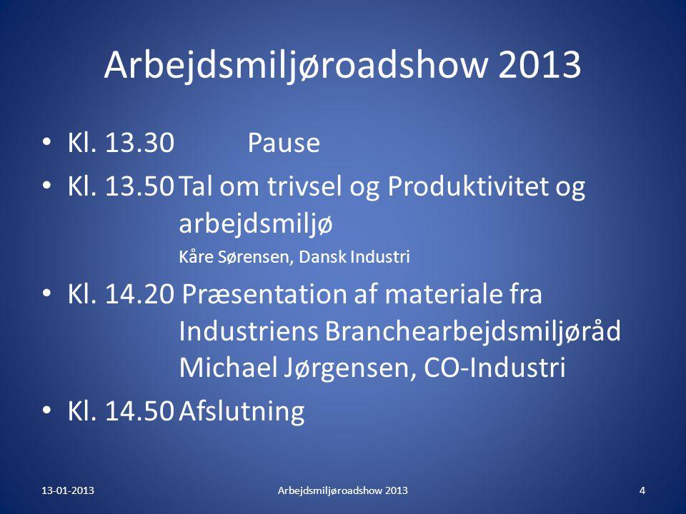 Arbejdsmiljøroadshow 2013