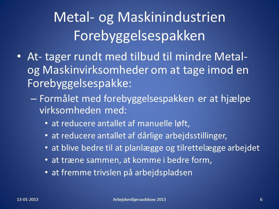 Metal- og Maskinindustrien Forebyggelsespakken