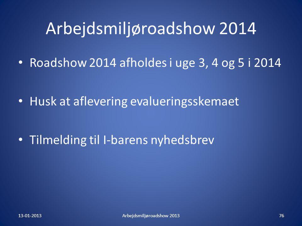 Arbejdsmiljøroadshow 2014