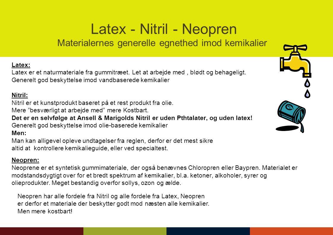 Latex - Nitril - Neopren