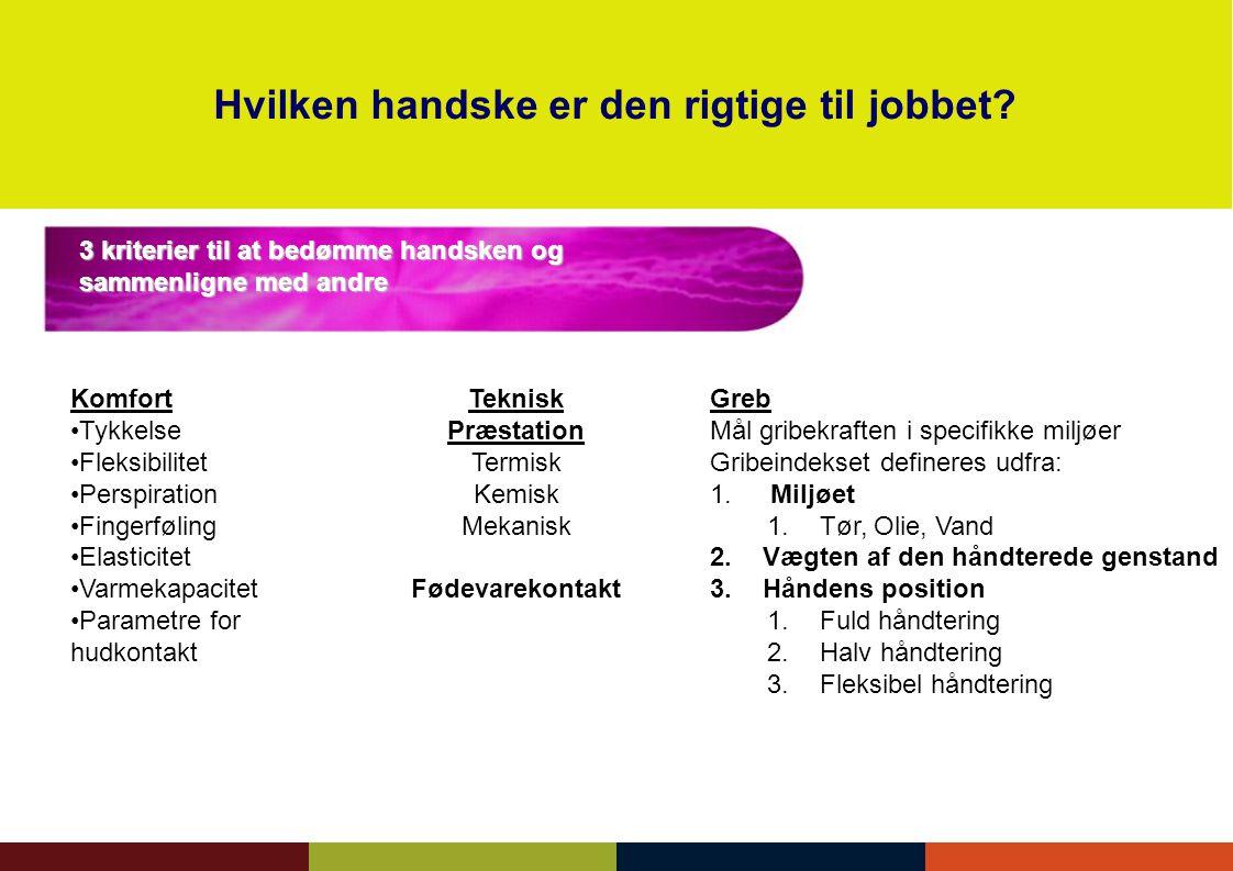 Hvilken handske er den rigtige til jobbet
