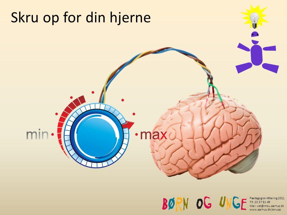 Skru op for din hjerne Støj Pædagogisk Afdeling 2011 Tlf. 23 37 81 49