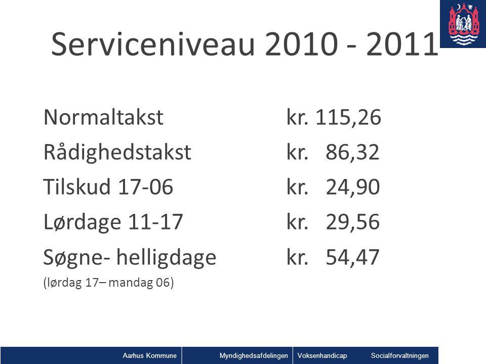 Serviceniveau 2010 - 2011 Normaltakst kr. 115,26