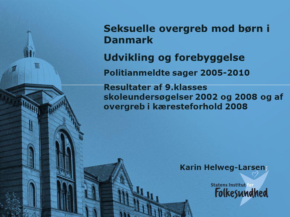 Seksuelle overgreb mod børn i Danmark