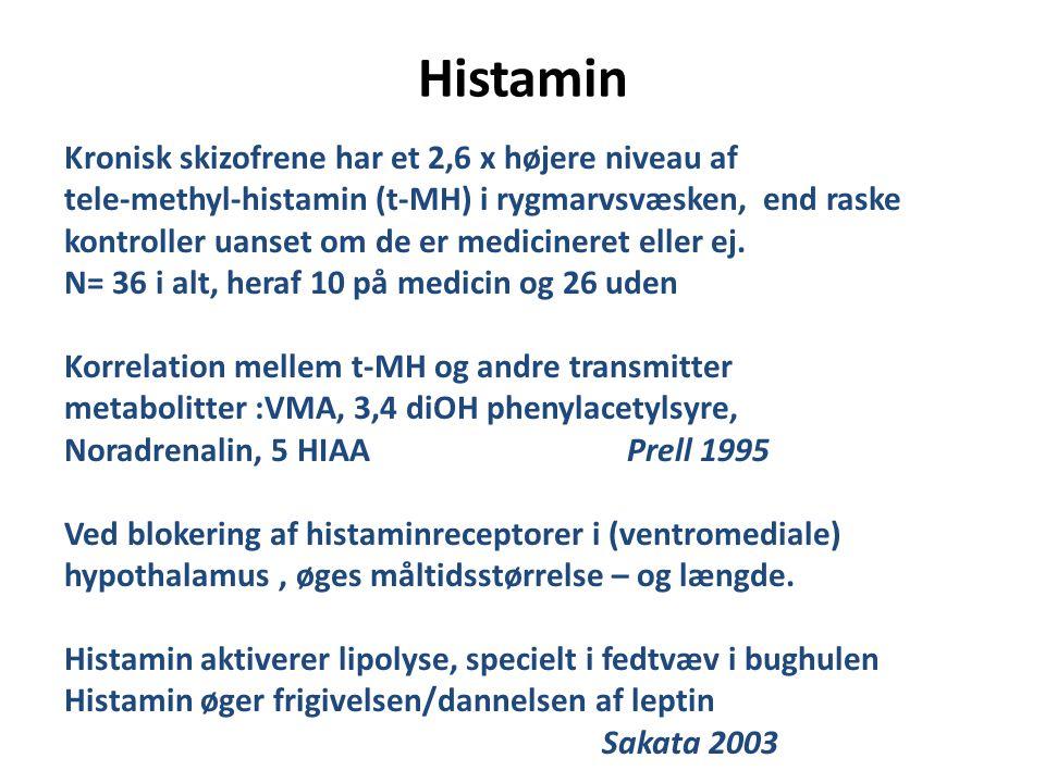 Histamin Kronisk skizofrene har et 2,6 x højere niveau af