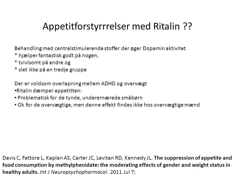 Appetitforstyrrrelser med Ritalin