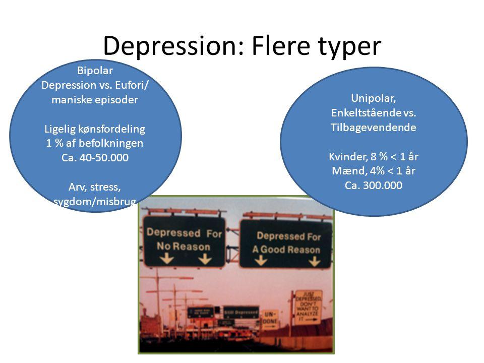 Depression: Flere typer