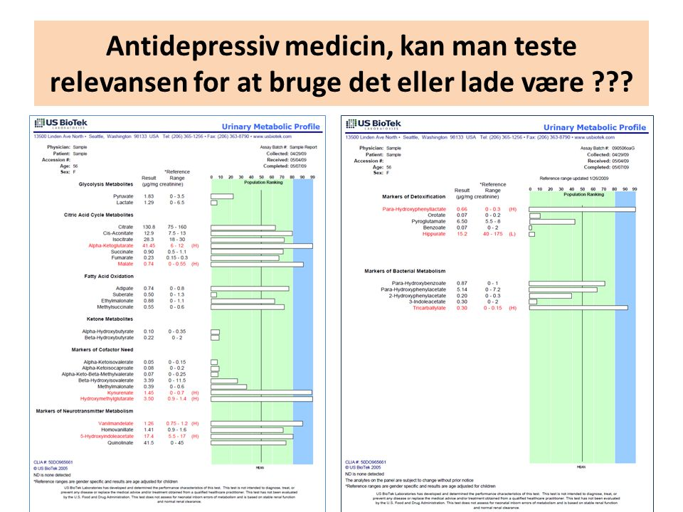 Antidepressiv medicin, kan man teste relevansen for at bruge det eller lade være