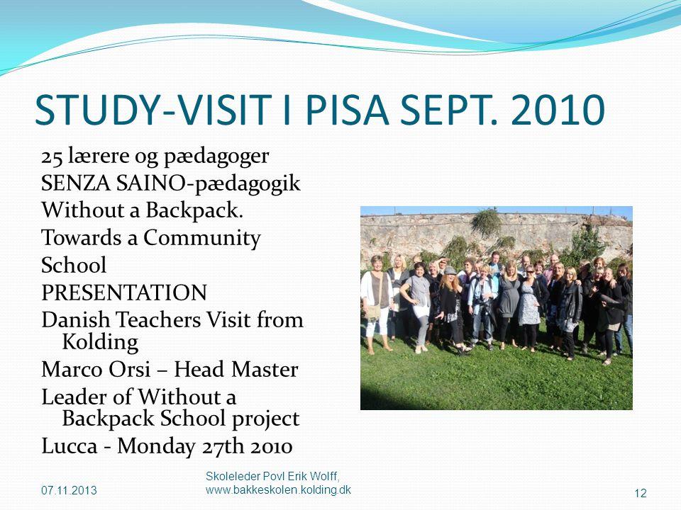 STUDY-VISIT I PISA SEPT. 2010