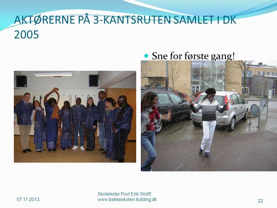 AKTØRERNE PÅ 3-KANTSRUTEN SAMLET I DK 2005