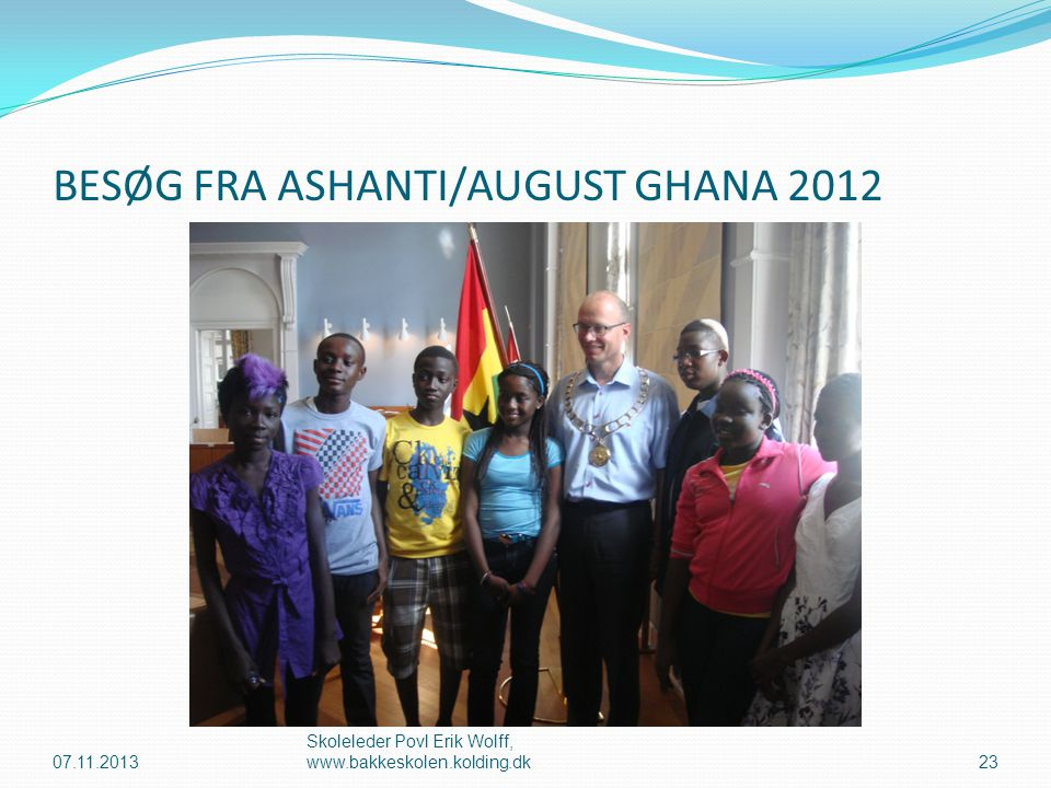BESØG FRA ASHANTI/AUGUST GHANA 2012