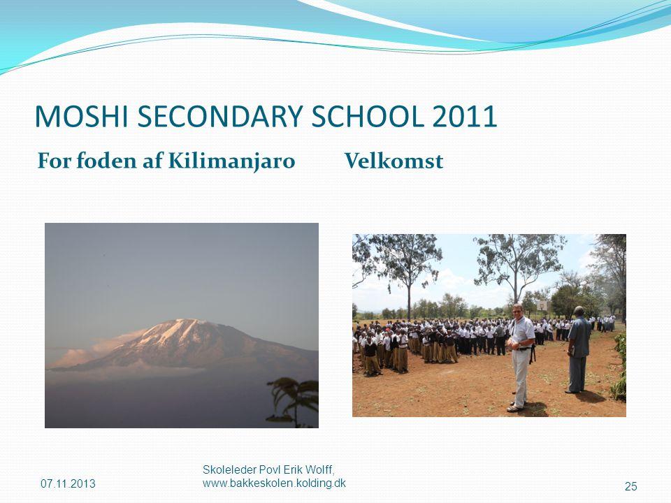 MOSHI SECONDARY SCHOOL 2011