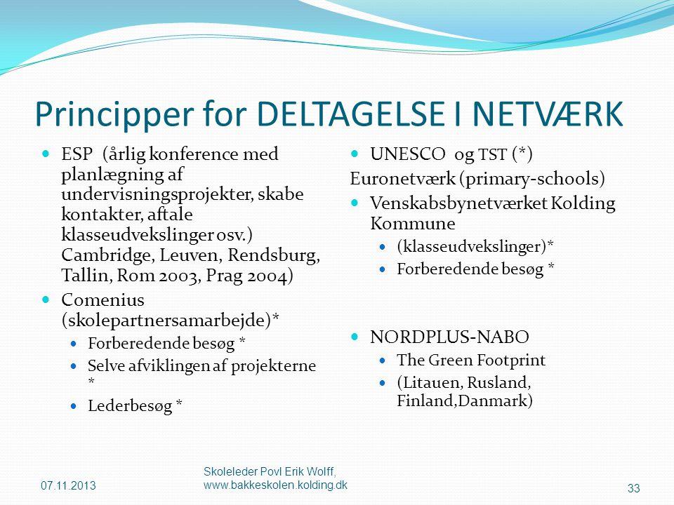 Principper for DELTAGELSE I NETVÆRK