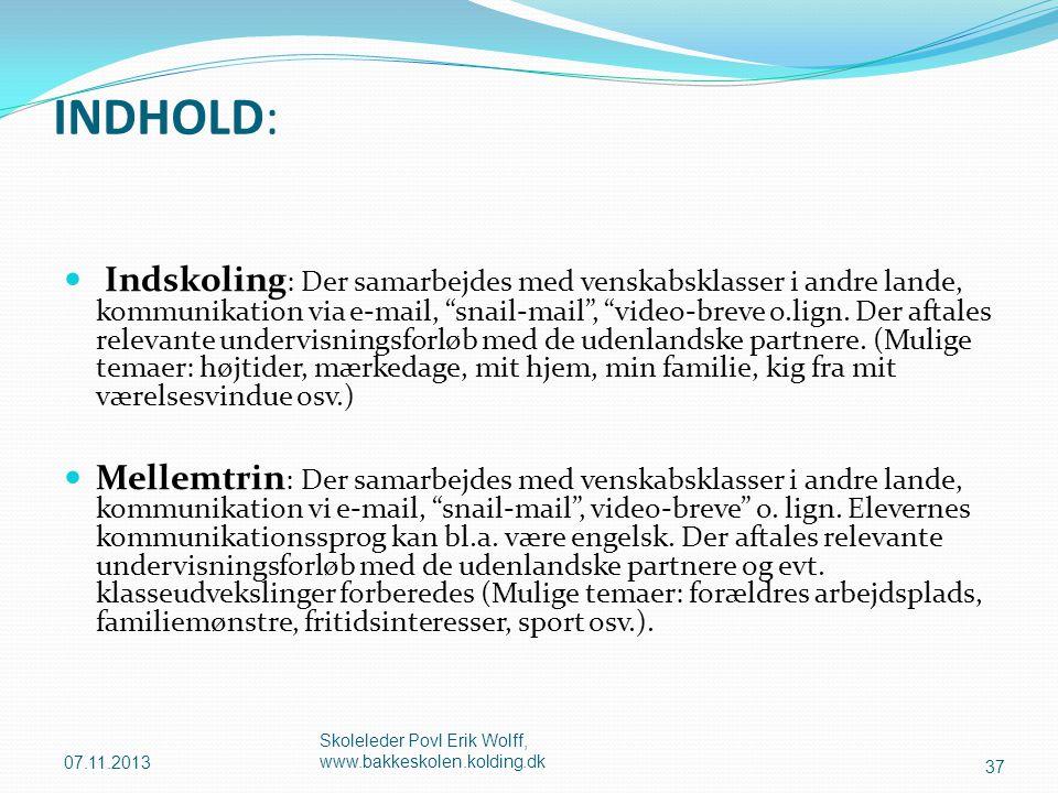 INDHOLD: