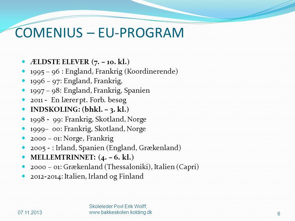 COMENIUS – EU-PROGRAM ÆLDSTE ELEVER (7. – 10. kl.)