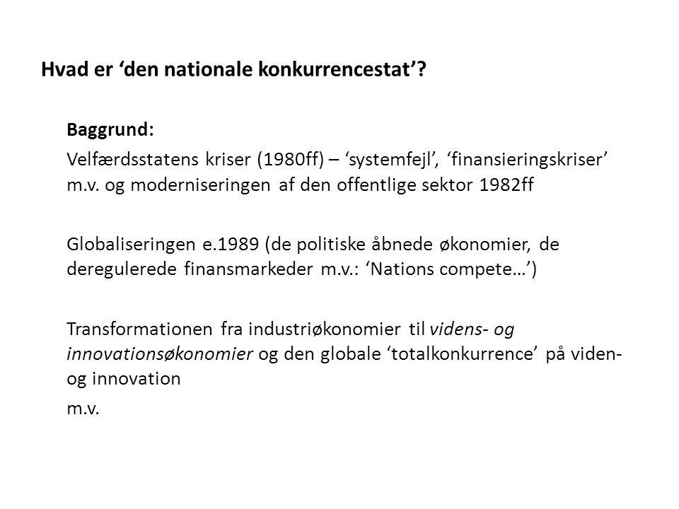 Hvad er 'den nationale konkurrencestat'