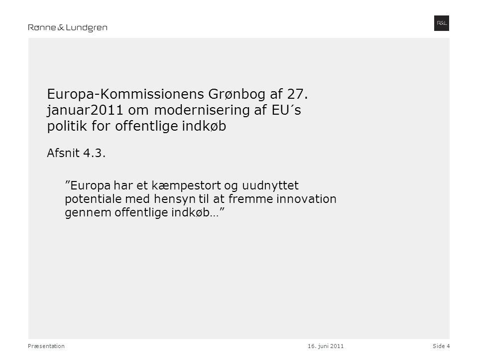 Europa-Kommissionens Grønbog af 27
