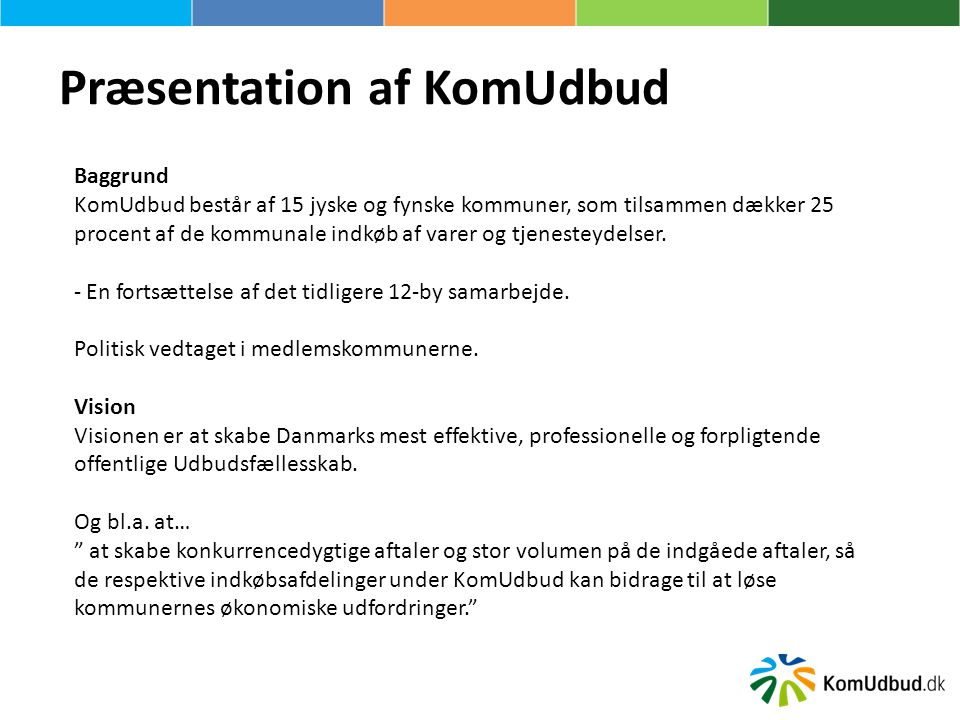 Præsentation af KomUdbud
