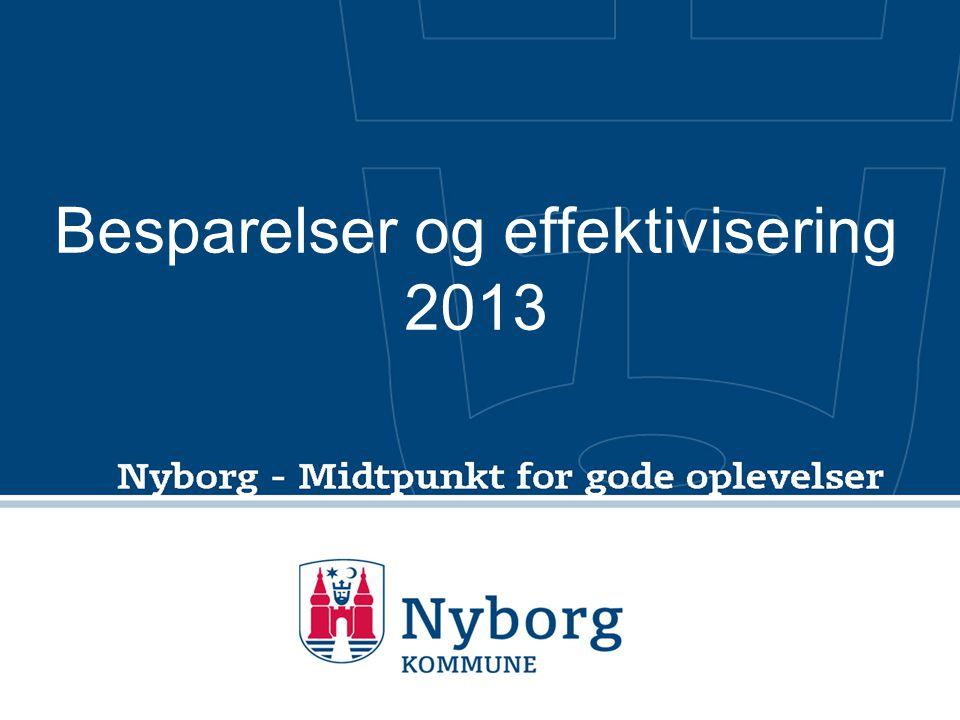 Besparelser og effektivisering 2013
