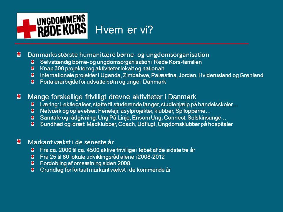 Hvem er vi Danmarks største humanitære børne- og ungdomsorganisation