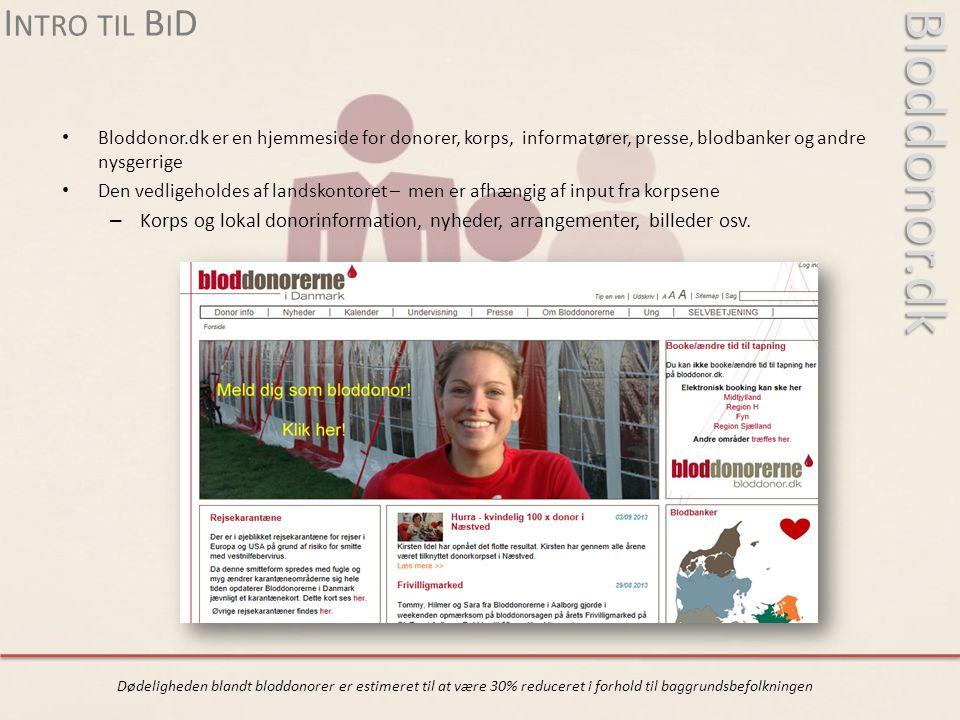 Bloddonor.dk Intro til BiD