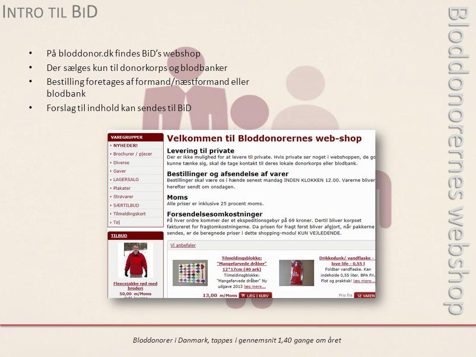 Bloddonorernes webshop