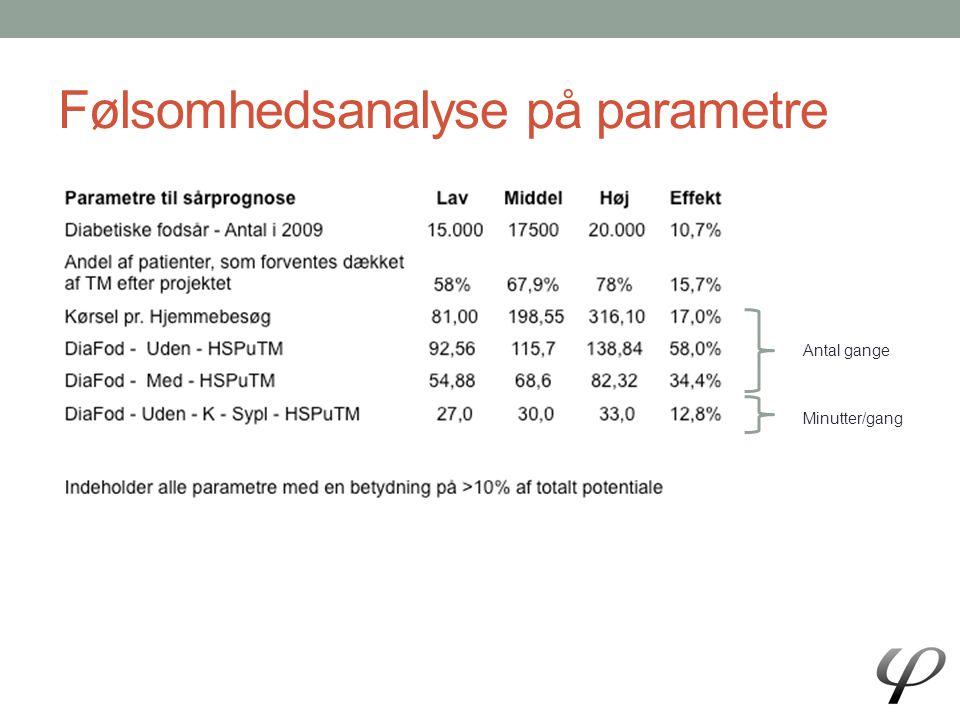 Følsomhedsanalyse på parametre