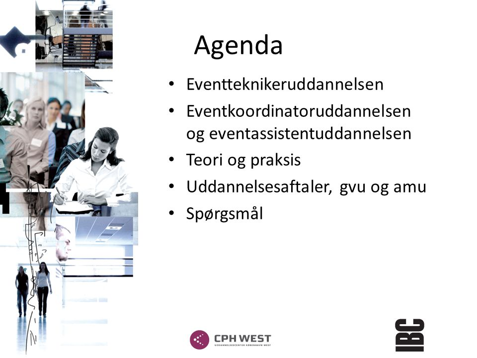 Agenda Eventteknikeruddannelsen