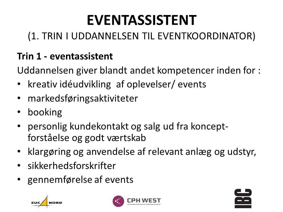 EVENTASSISTENT (1. TRIN I UDDANNELSEN TIL EVENTKOORDINATOR)