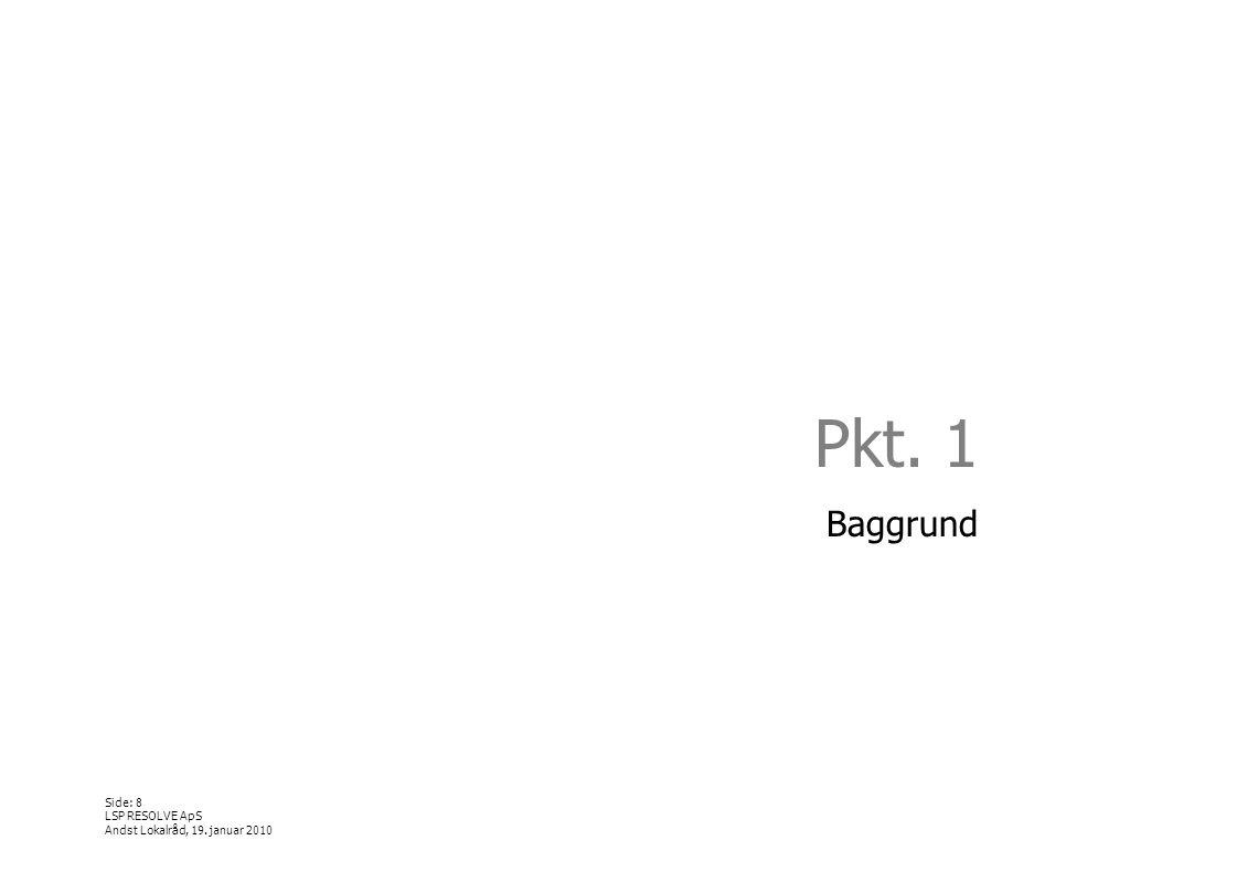 Pkt. 1 Baggrund