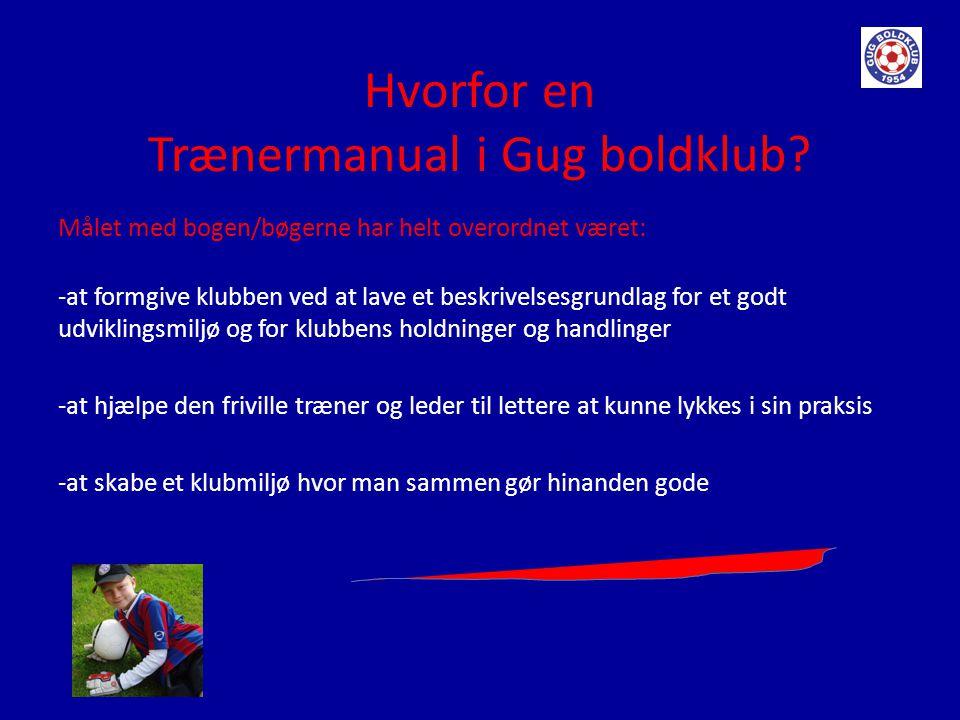 Hvorfor en Trænermanual i Gug boldklub