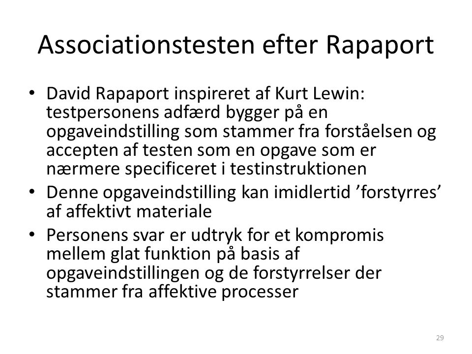 Associationstesten efter Rapaport