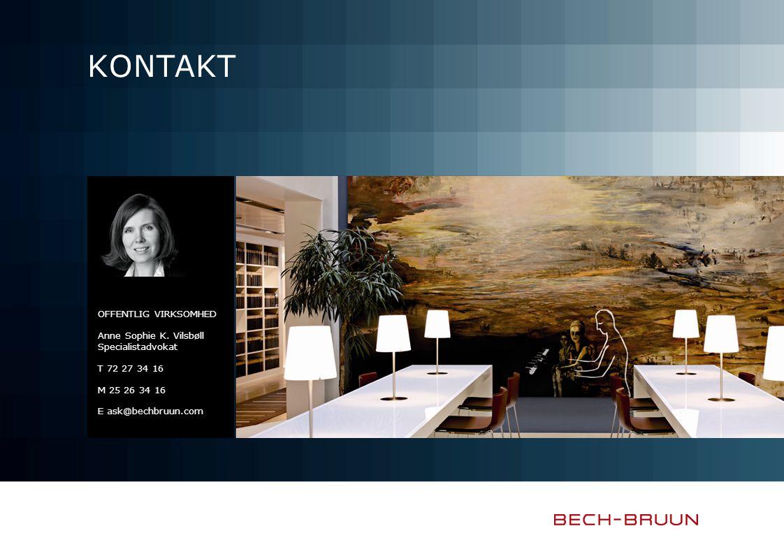 Kontakt Offentlig virksomhed Anne Sophie K. Vilsbøll Specialistadvokat