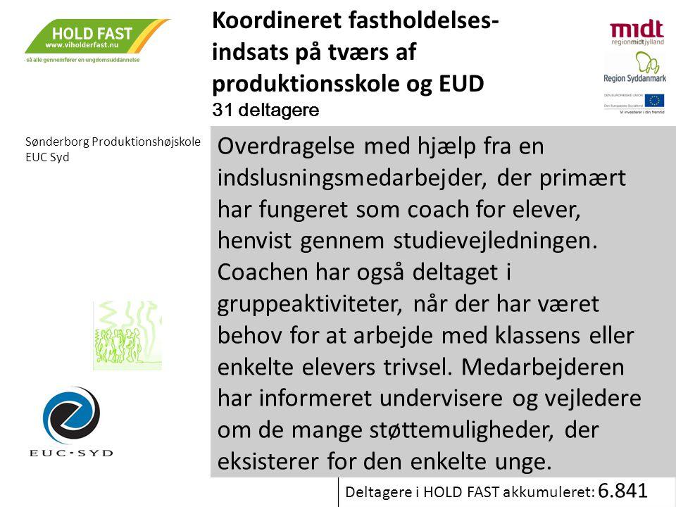 Koordineret fastholdelses-indsats på tværs af produktionsskole og EUD