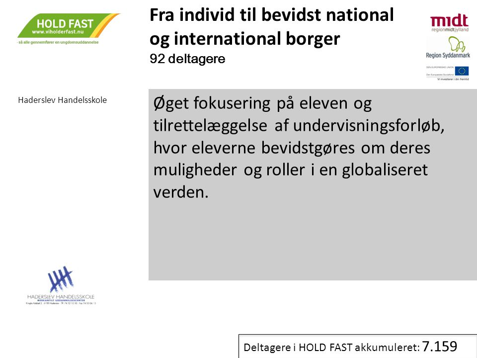 Fra individ til bevidst national og international borger