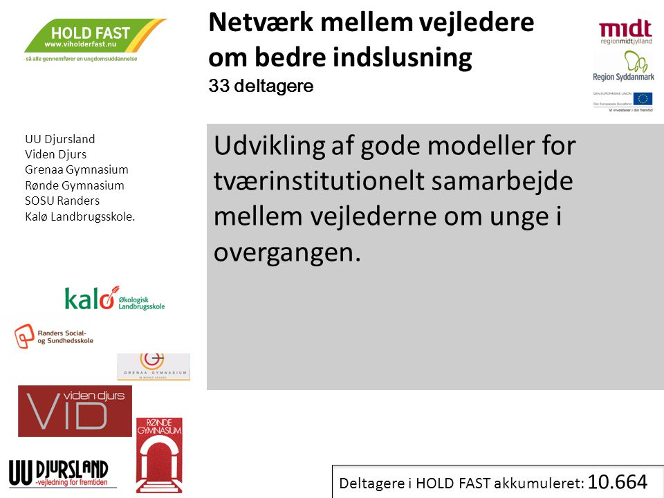 Netværk mellem vejledere om bedre indslusning