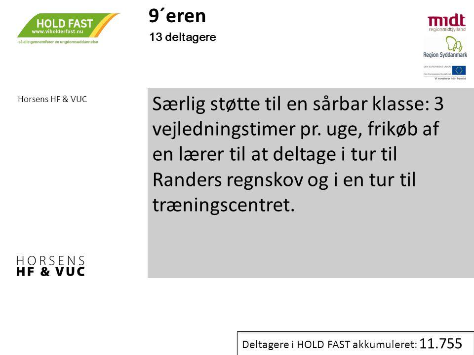 9´eren 13 deltagere. Horsens HF & VUC.