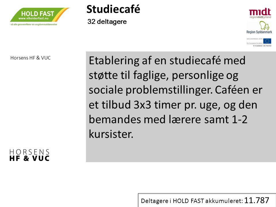 Studiecafé 32 deltagere. Horsens HF & VUC.