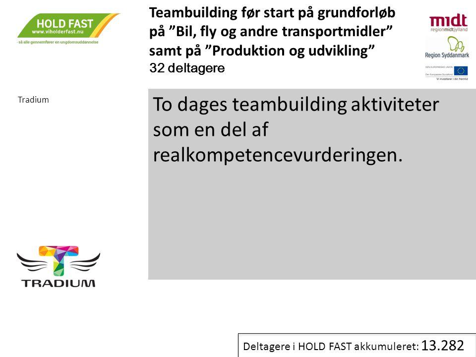 Teambuilding før start på grundforløb på Bil, fly og andre transportmidler samt på Produktion og udvikling