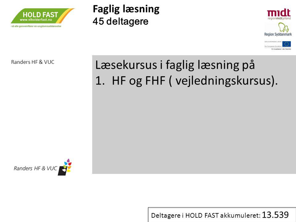 Læsekursus i faglig læsning på HF og FHF ( vejledningskursus).